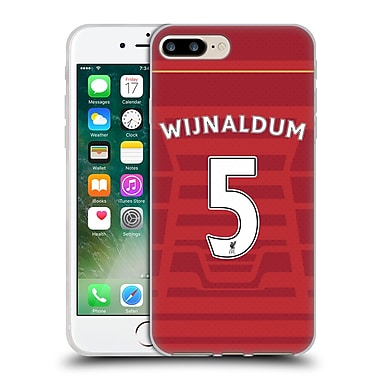Official Liverpool Football Club Players Home Kit 16/17 Group 1 Wijnaldum Soft Gel Case For Apple Iphone 7 Plus