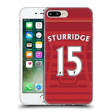 Official Liverpool Football Club Players Home Kit 16/17 Group 1 Sturridge Soft Gel Case For Apple Iphone 7 Plus
