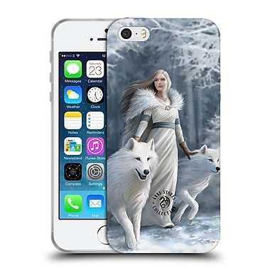 Official Anne Stokes Wolves Winter Guardians Soft Gel Case For Apple Iphone 5 / 5S / Se