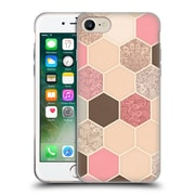 Official Micklyn Le Feuvre Hexagon Patterns Caramel Cocoa Strawberry Cream Soft Gel Case For Apple Iphone 7