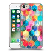 Official Micklyn Le Feuvre Hexagon Patterns Crystal Bohemian Honeycomb Cubes Soft Gel Case For Apple Iphone 7