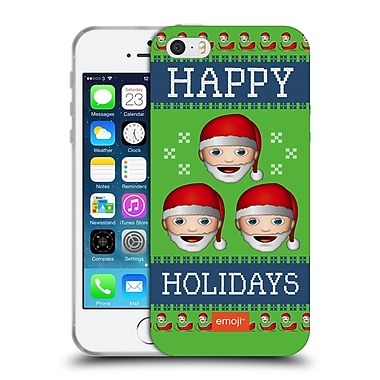 Official Emoji Ugly Christmas Three Santas Soft Gel Case For Apple Iphone 5 / 5S / Se