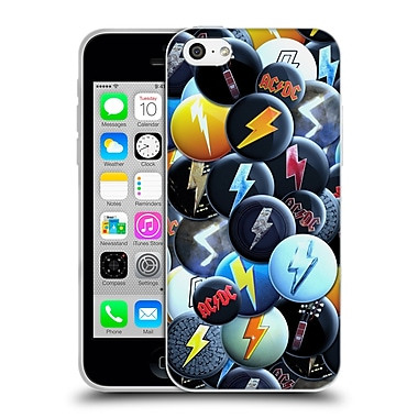 Official Ac/Dc Acdc Button Pins Lightning Soft Gel Case For Apple Iphone 5C