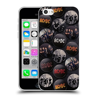 Official Ac/Dc Acdc Button Pins Group Soft Gel Case For Apple Iphone 5C