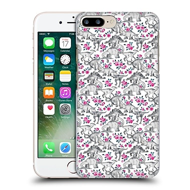 Official Micklyn Le Feuvre Animals Dinosaurs And Roses Hard Back Case For Apple Iphone 7 Plus