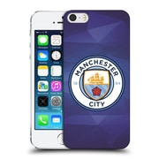 Official Manchester City Man City Fc Badge Geometric Obsidian Full Colour Hard Back Case For Apple Iphone 5 / 5S / Se