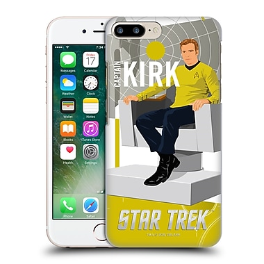Official Star Trek Embossed Iconic Characters Tos Captain Kirk Hard Back Case For Apple Iphone 7 Plus