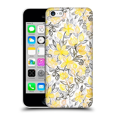 Official Micklyn Le Feuvre Floral Patterns 2 Sunny Yellow Crayon Striped Summer Hard Back Case For Apple Iphone 5C