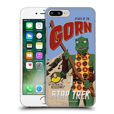 Official Star Trek Embossed Iconic Characters Tos Gorn Hard Back Case For Apple Iphone 7 Plus