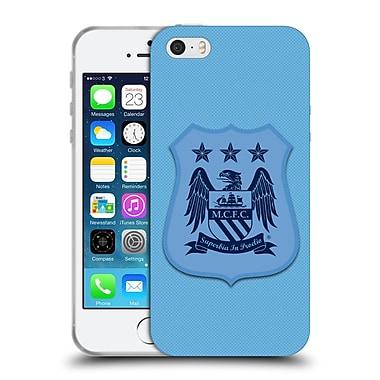 Official Manchester City Man City Fc Crest Kit Home Kit Mono Soft Gel Case For Apple Iphone 5 / 5S / Se