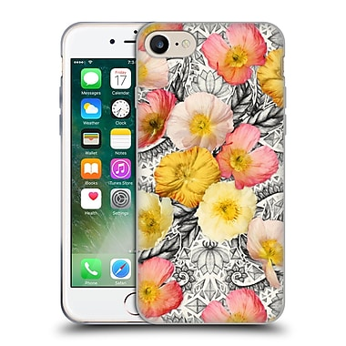 Official Micklyn Le Feuvre Florals 2 Collage Of Poppies And Pattern Soft Gel Case For Apple Iphone 7