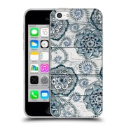 Official Micklyn Le Feuvre On Wood Shabby Chic Navy Blue Doodles Soft Gel Case For Apple Iphone 5C