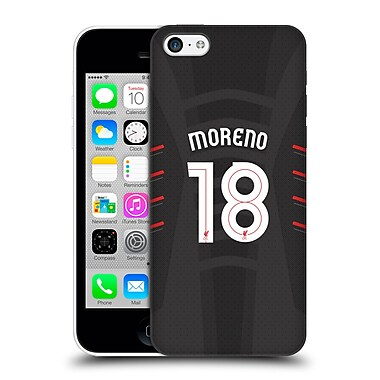 Official Liverpool Football Club Players Away Kit 16/17 Group 2 Moreno Hard Back Case For Apple Iphone 5C