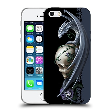 Official Anne Stokes Dragons 2 Skull And Rose Soft Gel Case For Apple Iphone 5 / 5S / Se