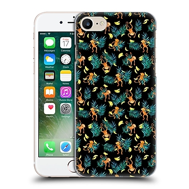 Official Micklyn Le Feuvre Animals Tropical Monkey Banana Hard Back Case For Apple Iphone 7