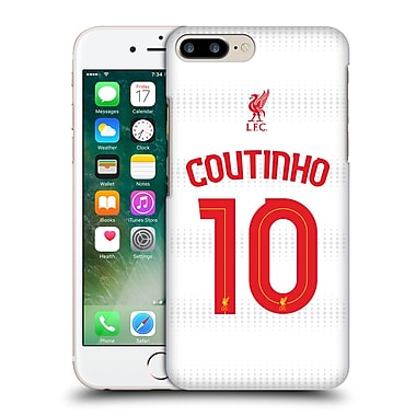 Official Liverpool Football Club Shirt Away Shirt White Coutinho Hard Back Case For Apple Iphone 7 Plus