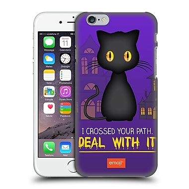 Official Emoji Halloween Parodies Black Cat Hard Back Case For Apple Iphone 6 / 6S