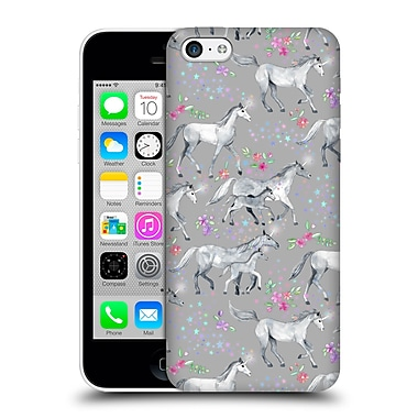 Official Micklyn Le Feuvre Wildlife Stars And Unicorns On Grey Hard Back Case For Apple Iphone 5C