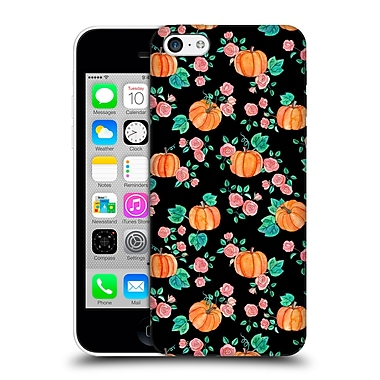 Official Micklyn Le Feuvre Floral Patterns 2 Pumpkins And Roses On Black Hard Back Case For Apple Iphone 5C