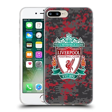 Official Liverpool Football Club Digital Camouflage Club Colours Crest Soft Gel Case For Apple Iphone 7 Plus