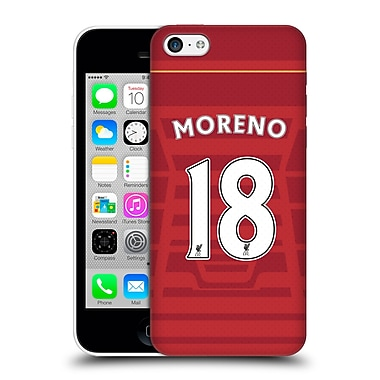 Official Liverpool Football Club Players Home Kit 16/17 Group 2 Moreno Hard Back Case For Apple Iphone 5C