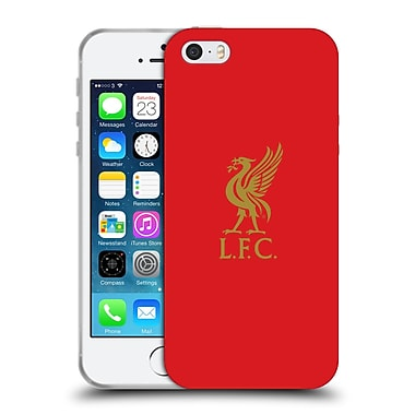 Official Liverpool Football Club Liver Bird Gold Logo On Red Soft Gel Case For Apple Iphone 5 / 5S / Se