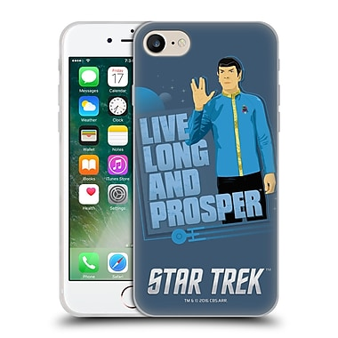 Official Star Trek Iconic Characters Tos Spock Soft Gel Case For Apple Iphone 7