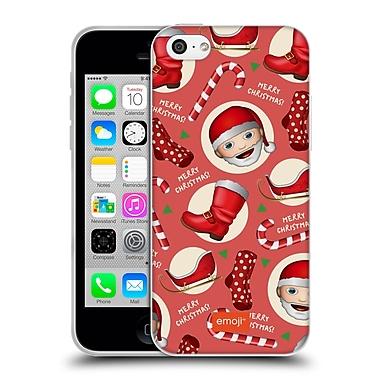 Official Emoji Christmas Patterns Santa Kit Soft Gel Case For Apple Iphone 5C