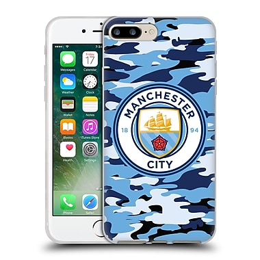 Official Manchester City Man City Fc Badge Camou Blue Moon Soft Gel Case For Apple Iphone 7 Plus