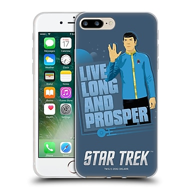 Official Star Trek Iconic Characters Tos Spock Soft Gel Case For Apple Iphone 7 Plus
