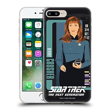 Official Star Trek Iconic Characters Tng Beverly Crusher Soft Gel Case For Apple Iphone 7 Plus