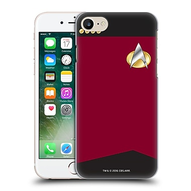 Official Star Trek Uniforms And Badges Tng Captain Hard Back Case For Apple Iphone 7