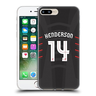Official Liverpool Football Club Players Away Kit 16/17 Group 1 Henderson Soft Gel Case For Apple Iphone 7 Plus