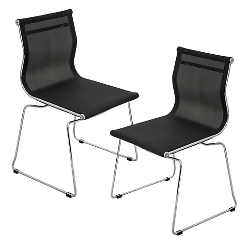 Tobago Stacking Chair Brown Chrome: Lumisource Mirage Stackable Dining Chair In Black & Chrome