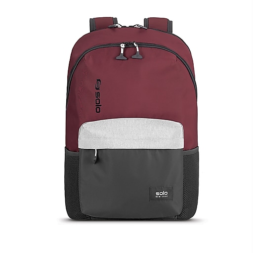 Solo New York Varsity League Backpack, Burgundy/Grey (VAR703-90)