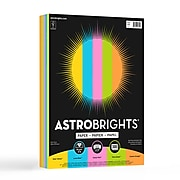 """Astrobrights Radiant Colored Paper, 24 lbs., 8.5"""" x 11"""", Assorted, 300 Sheets/Ream (91642)"""