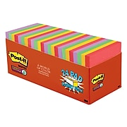 """Post-it® Super Sticky Notes Cabinet Pack, 3"""" x 3"""", Marrakesh Collection, 70 Sheets/Pad, 24 Pads/Pack (654-24SSAN-CP)"""