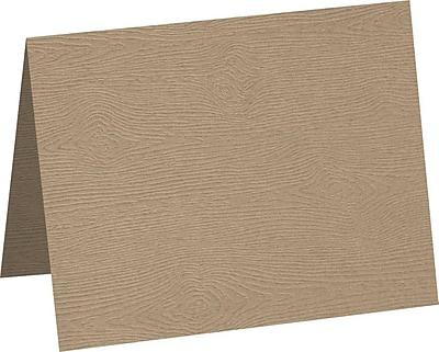 LUX A1 Folded Card 250/Pack, Oak Woodgrain (5010-C-S01-250)
