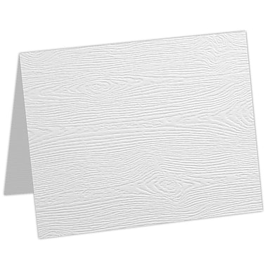 LUX A9 Folded Card, White Birch Woodgrain (5060-C-S02-50)