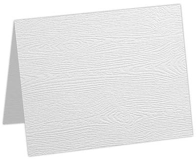 LUX A9 Folded Card 50/Pack, White Birch Woodgrain (5060-C-S02-50)