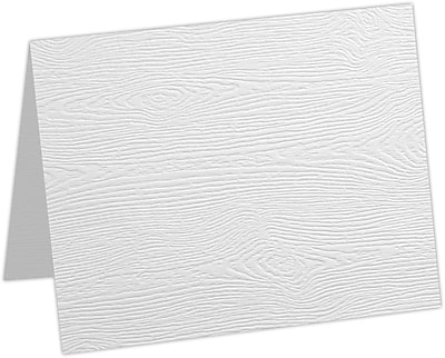LUX A1 Folded Card 1000/Pack, White Birch Woodgrain (5010-C-S02-1000)
