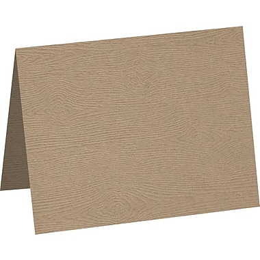 LUX A2 Folded Card 500/Pack, Oak Woodgrain (5020-C-S01-500)