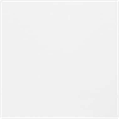 LUX 4 3/4 x 4 3/4 Square Flat Card 50/Pack, White (434SQFLT-WPC-50)
