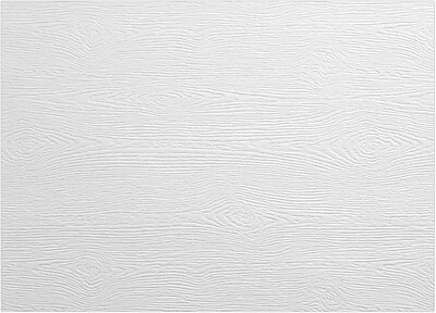 LUX A1 Flat Card 500/Pack, White Birch Woodgrain (4010-C-S02-500)