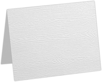 LUX A6 Folded Card 250/Pack, White Birch Woodgrain (5030-C-S02-250)