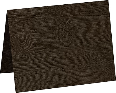 LUX A6 Folded Card 1000/Pack, Teak Woodgrain (5030-C-S03-1000)