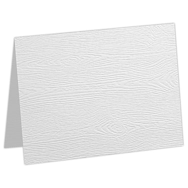 LUX A7 Folded Card, White Birch Woodgrain (5040-C-S02-50)