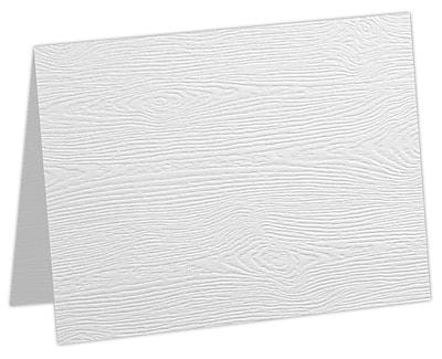 LUX A7 Folded Card 50/Pack, White Birch Woodgrain (5040-C-S02-50)