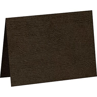 LUX A7 Folded Card, Teak Woodgrain (5040-C-S03-500)