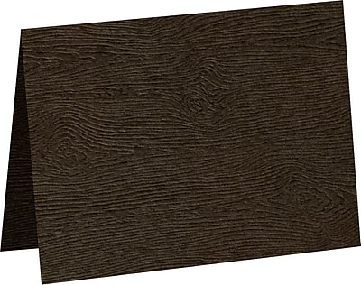 LUX A7 Folded Card 1000/Pack, Teak Woodgrain (5040-C-S03-1000)